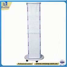 Decorative New Style Practical Rotating Metal Pegboard Display Rack