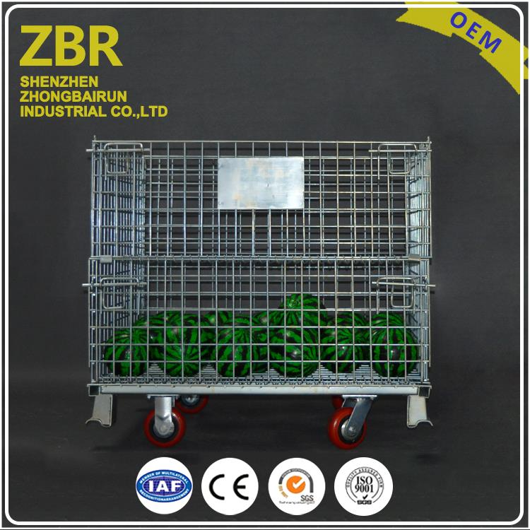 Heavy Duty Collapsible Steel Storage Used Wire Mesh Container Metal Foldable Cage Pallets Stillages