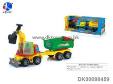2013 New Friction Excavator And Rear Tipper Friction Toy