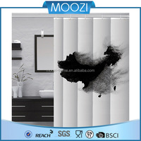 Matching Window Bathroom Accessories Plastic Shower Curtain
