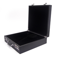 Fashion stand up jewelry box with combination lock and handle
