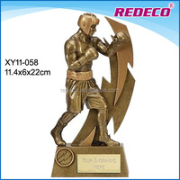 Wholesale resin boxer player boxing award trophy anniversary