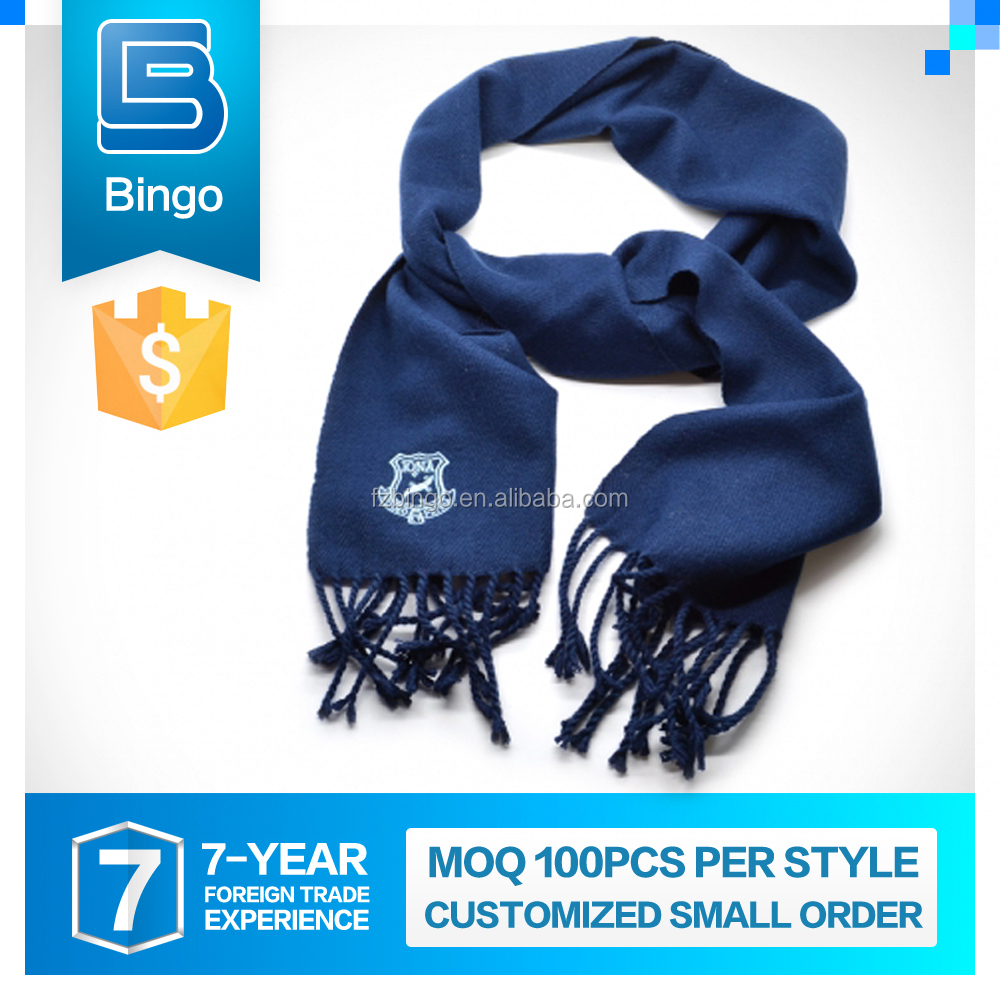 High-End Handmade Customized Logo Printed Customized 100% Polyester Knitted Scarves
