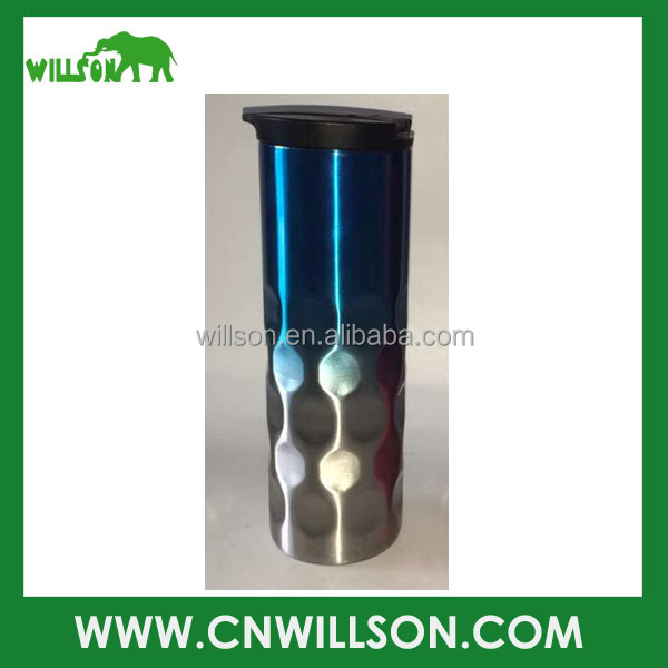 Custom sublimation stainless steel metal double wall insulated vacuum thermos thermal car coffee travel mug