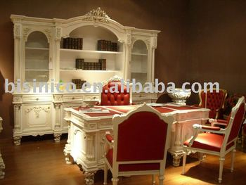 luxury european style office desk and chair, office furniture