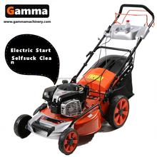 motor car Lawn mower with electric start and big racing wheels
