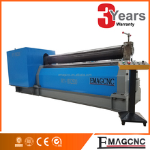 Automation sheet metal 3 rolls plate rolling machine/cone rolling bending