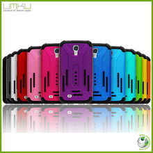 Newest 2in1 mobile phone case for Samsung i9500 galaxy S4 Colorful soft Silicone Case