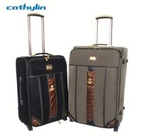 Trolley PU leather luggage case travel car luggage and bags