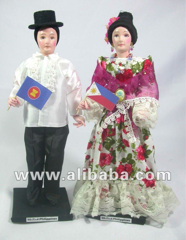 Philippines Dolls in Traditional Costume