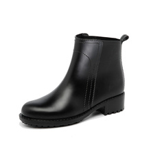 matte finish ankle height women girls latest design PVC rain boot waterproof rain shoes rain boots