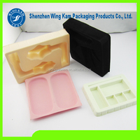 PS packaging tray with velvet /flockging packaging flocking velvet blister