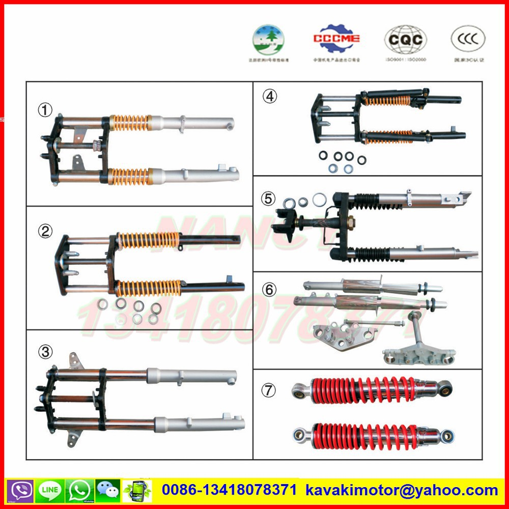China cheaper three wheel motorcycle spare parts front shock absorber & forks