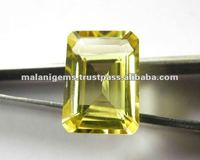 Natural Lemon Topaz Emerald Cut Loose Stone