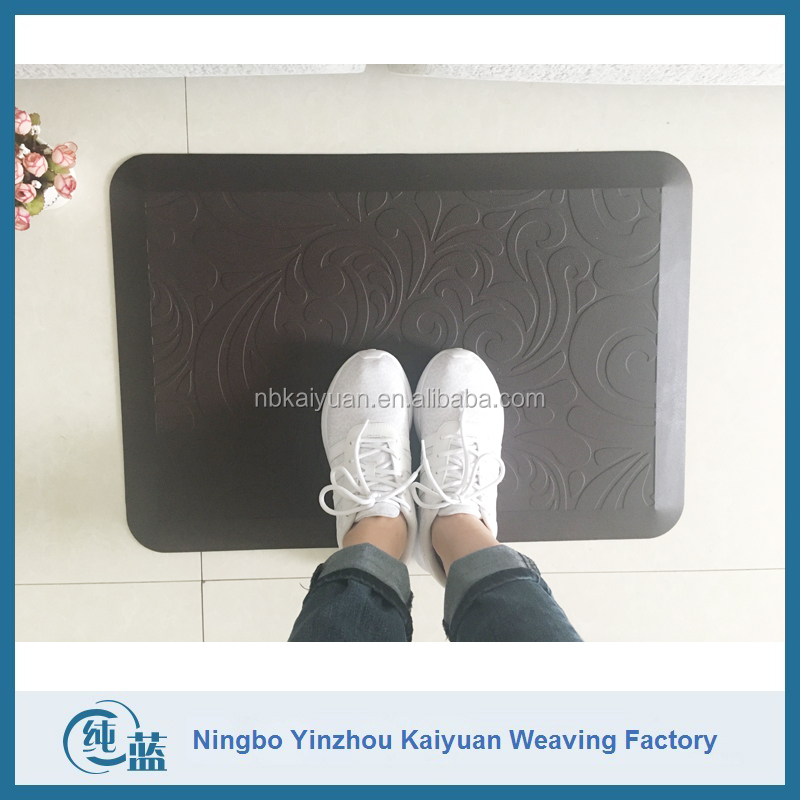 Comfort stand PU foam decorative kitchen floor mats