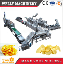 Automatic fried potato chips snack production line/ Crispy fried potato chips maker machine