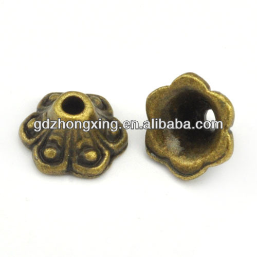 Zinc alloy beads cap,jewelry accessory end cap