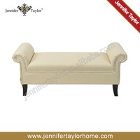 luxury antique waiting room furniture bed end ottoman bench
