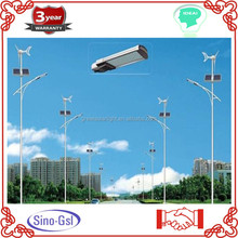 Automatic factory supply all power range wind solar hybrid street light, light pole wind turbine ,hybr for sale with CE approved
