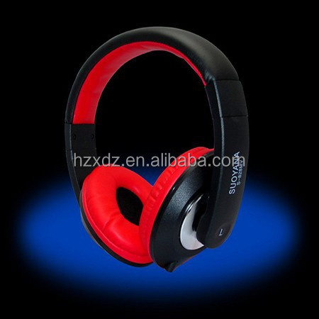 Promotion items: High quality bass earphone & headphone with mic and colorful(red & black) for gift