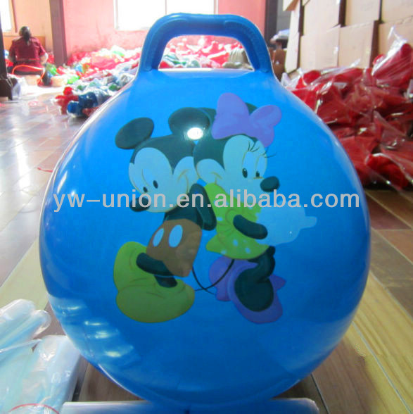 handle jumping ball toy For baby , Hopper soft pvc balls