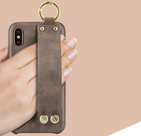 Vintage For Apple iPhone X Multifunction Phone Case With Handle Slim Fashion Shell Skid Bracket Accessories MK1358