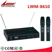 Lane UHF wireless microphone headset and handheld microphone LWM-8610