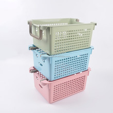 PP Plastics storage baskets with handle MSD046