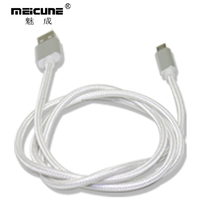 White color data and charging 5 wire micro mini usb cable for Android mobile phone
