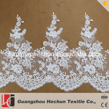 HC-1509 Hechun beaded White Bridal embroidery Beaded Lace Trim for wedding dress