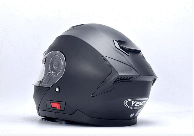 YM-926 ECE custom predator flip up helmet german style motorcycle helmet with double visor from Yema casco para moto factory