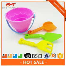 Plastic summer toy mini sand beach toy bucket set for kids