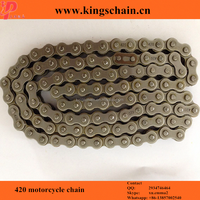 Whole sale four side punch 40Mn motorcycle wheel chain 420