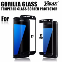 Wholesale! OEM/ODM 2.5d curved edge 9H hardness mobile cell phone tempered glass screen protector for Samsung galaxy S7