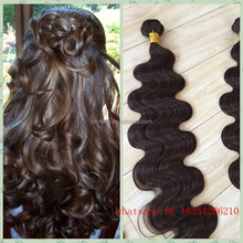 30inch long remi human hair extensions light brown curly hair extensions hair weave white women