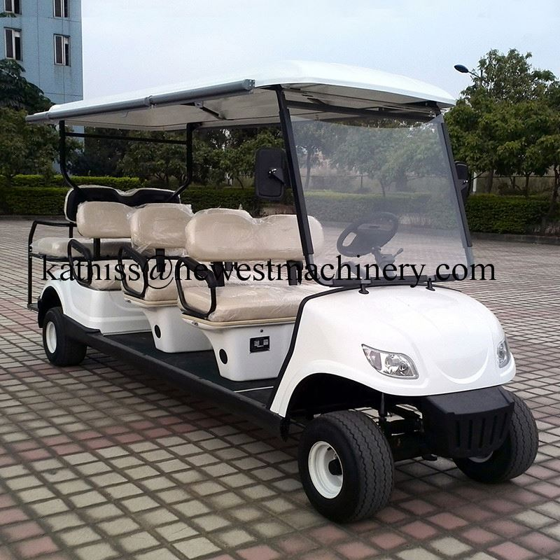 Electric transportation car/electric used golf cart/4 wheels electric golf cart trolley