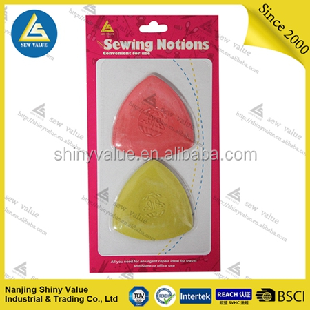 Rectangle shape assorted colors tailors marking chalk for fabric cutting marker