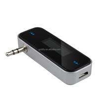 New Mini Wireless Transmitter 3.5mm In-car Music Audio FM Transmitter For iPod Mobile for iPhone Electronic Car MP3 Player