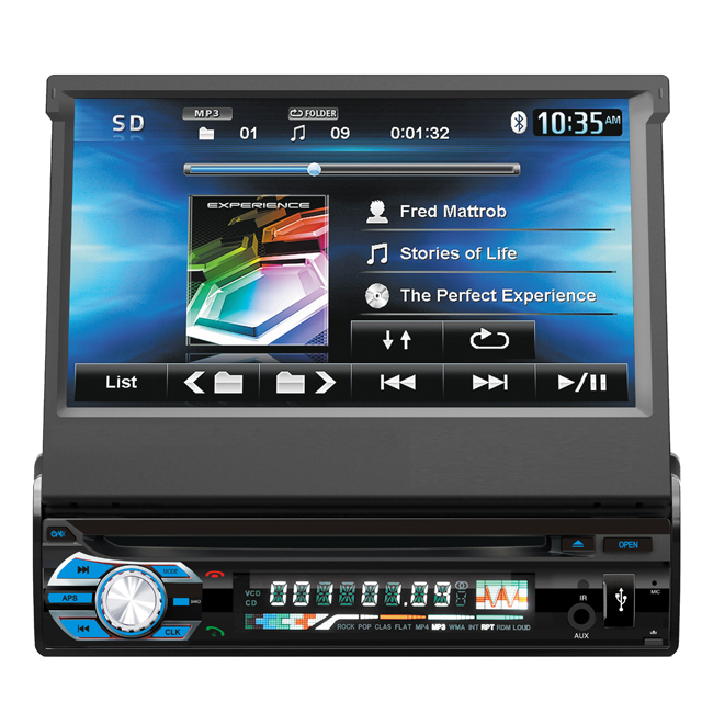 OEM one din detachable panel in-dash 7inch touch screen car DVD CD car Radio player car audio with DVD USB SD AUX TV BT MP5 GPS