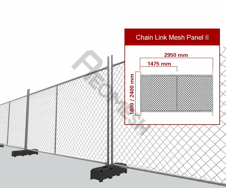 Canton Factory American portable temporary fence used for building
