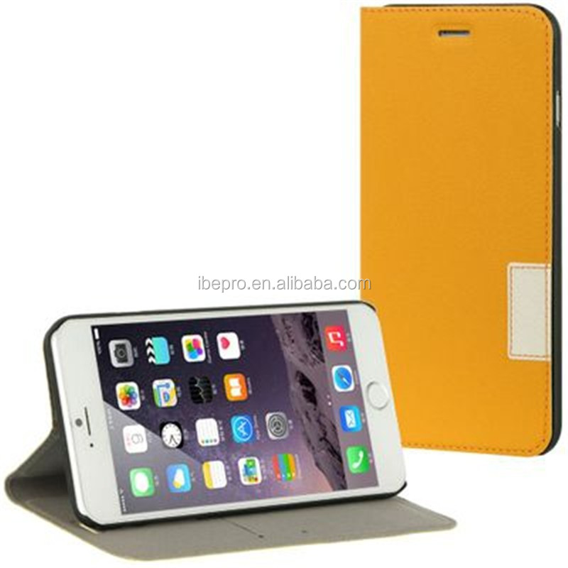 Luxury Slim Hybrid Flip Leather Smart Cover Wallet Case for iPhone 6 Plus