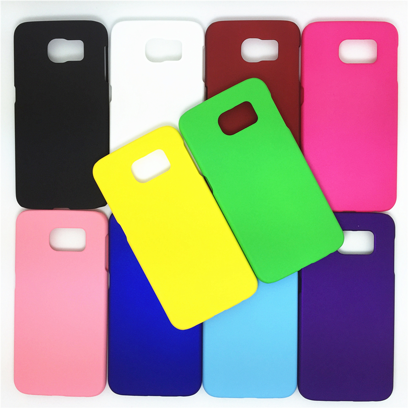 Colorful Rubber Oil Matte Hard Back Cover Case For Samsung Galaxy S6