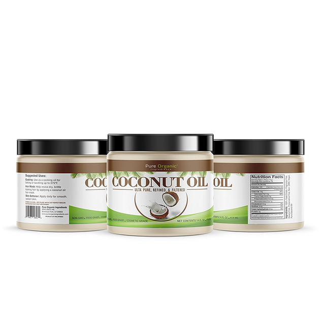 100% Pure Natural Organic Skin Whitening Cooking Virgin Coconut Oil