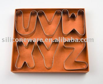 letters shape stainless steel cookie cutter set and mini cookie cutter set