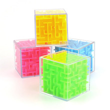 2018 Newest Educational toys plastic magic puzzle cube with steel ball for kids