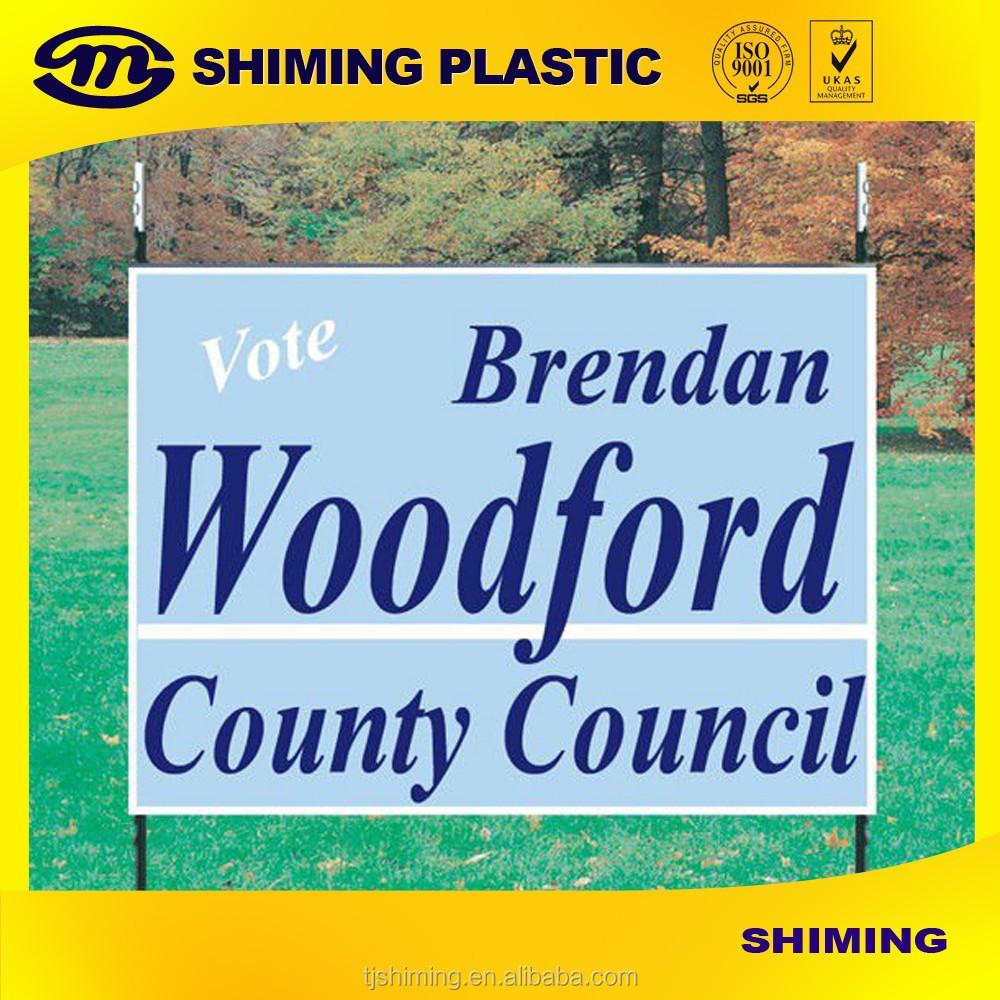 coroplast corrugated plastic yard signs buy folding plastic yard sign decorative yard signs. Black Bedroom Furniture Sets. Home Design Ideas