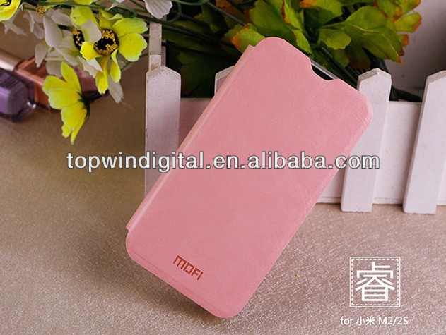 Hot Selling PU Leather Case PC Cover For Xiaomi Mi2S