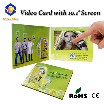 "2015 NEW arrival 10.1"" inch touch screen video brochure / video book / video greeting card"