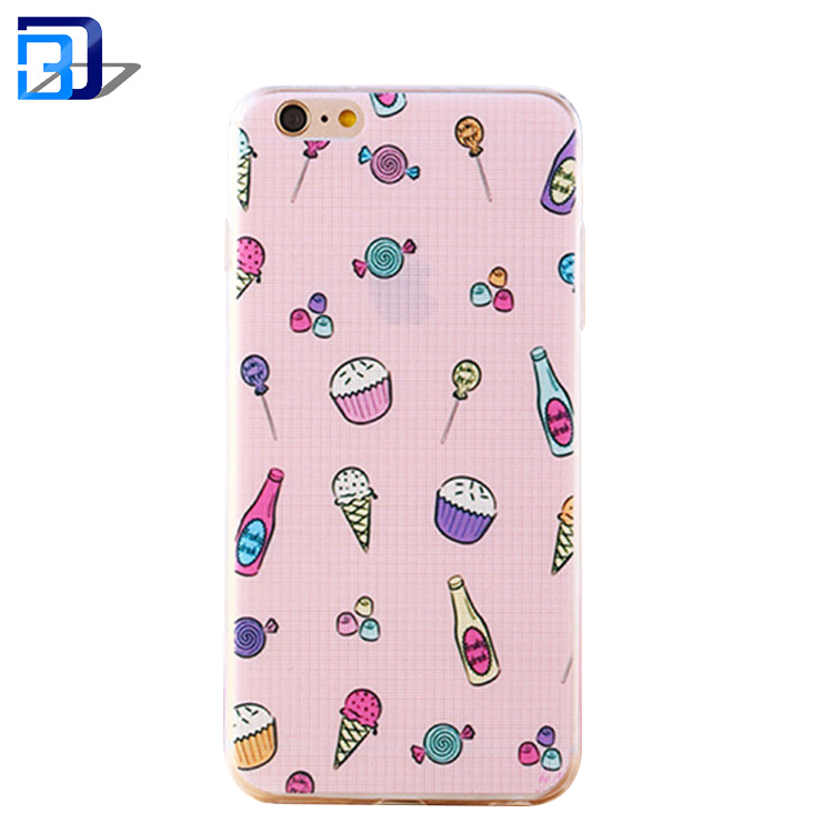 Cell Phone Case for iPhone 6 plus back cover,Ultra Thin Soft TPU Glossy Gel Back Waterproof Cover Case