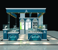 New kiosk concept jewelry shop interior design jewelry display counter/showcase for sale